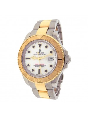 Rolex Yacht-Master 16623 Steel Gold Automatic Oyster White Men's Watch