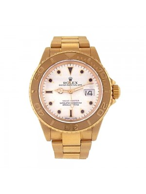 Rolex Oyster Perpetual Date Yacht-Master 18K Yellow Gold Automatic Watch 16628