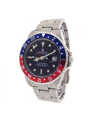 Rolex GMT Master II Stainless Steel Pepsi Bezel Automatic Men's Watch 16710
