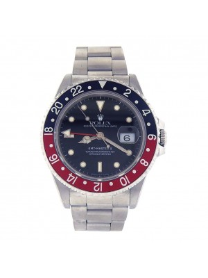 Rolex GMT Master II Coke Bezel Stainless Steel Automatic Men's Watch 16710