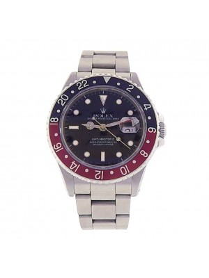 Rolex GMT Master II 16710 Stainless Steel Automatic Oyster Red Black Men's Watch