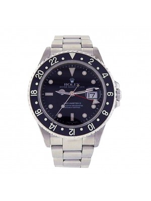Men's Rolex GMT Master II 16710 Stainless Steel Automatic Sport Watch