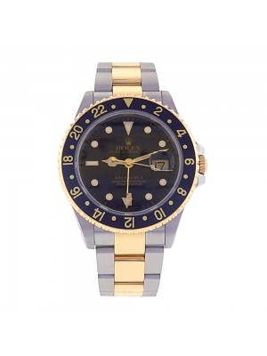 Rolex GMT-Master II 18k Yellow Gold & Stainless Steel Automatic Mens Watch 16713