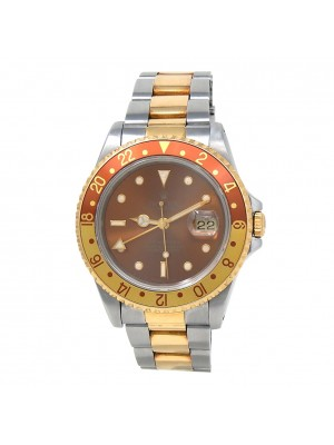 Rolex GMT-Master II Root Beer (U Serial) 18k Yellow Gold & Stainless Steel 16713