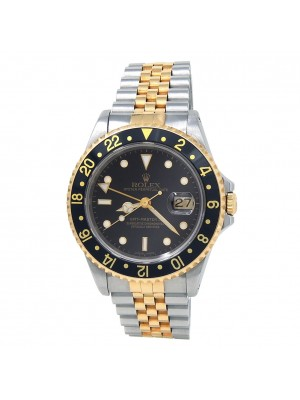 Rolex GMT-Master II 18k Y/G & S/S Automatic Men's Watch 16713