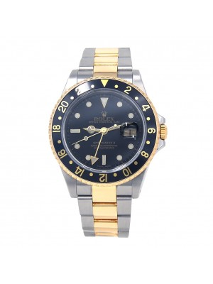 Rolex GMT-Master II Stainless Steel & 18k Yellow Gold Automatic Mens Watch 16713