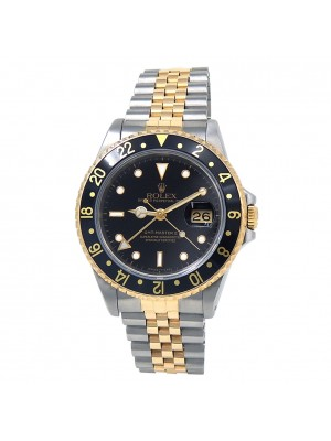 Rolex GMT-Master II (E Serial) 18k Yellow Gold & Stainless Steel Watch 16713