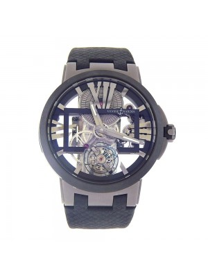 Ulysse Nardin Executive Skeleton Tourbillon Titanium Manual Men's Watch 1713-139