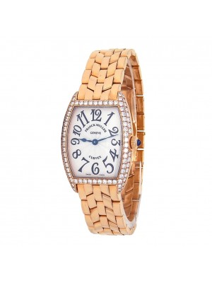Franck Muller Cintre Curvex 18k Rose Gold Swiss Quartz Ladies Watch 1752 QZ D