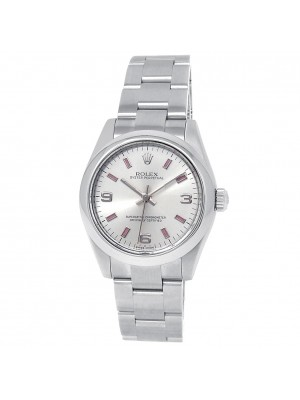 Rolex Oyster Perpetual Stainless Steel Oyster Silver Midsize Watch 177200