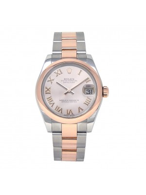 Rolex Datejust 18k Rose Gold & Stainless Steel Automatic Ladies Watch 178241