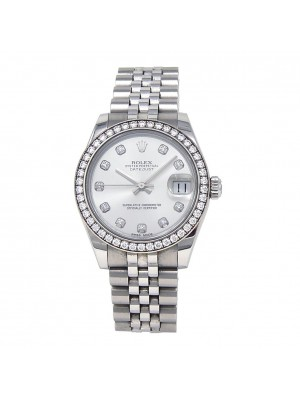 Rolex Datejust Stainless Steel Date Jubilee Band Automatic Ladies Watch 178384