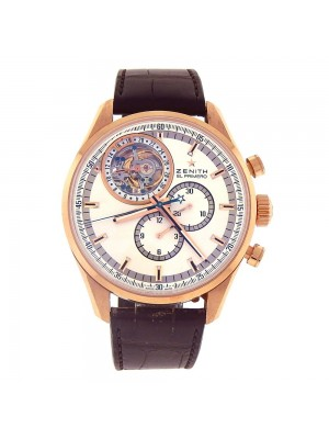 Zenith El Primero Tourbillon 18k Rose Gold Automatic Watch 18.2050.4035/01.C713