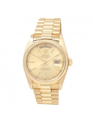 Rolex Day-Date 18k Yellow Gold President Automatic Champagne Men's Watch 18038