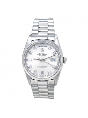 Rolex Day Date (A Serial) Platinum Diamond Dial Automatic Men's Watch 18206