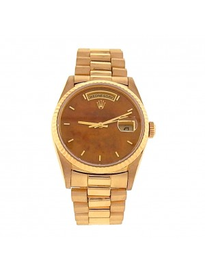 Rolex Day-Date 18238 18k Yellow Gold Automatic President Exotic Wood Men's Watch