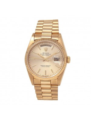Rolex Day-Date 18k Yellow Gold President Automatic Champagne Men's Watch 18238