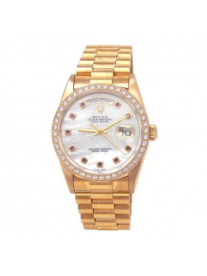 Rolex Day-Date (W Serial) 18k Yellow Gold Automatic Mens Watch 18348