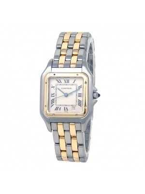 Cartier Panthere 18k Yellow Gold & Stainless Steel Quartz Ladies Watch 183949