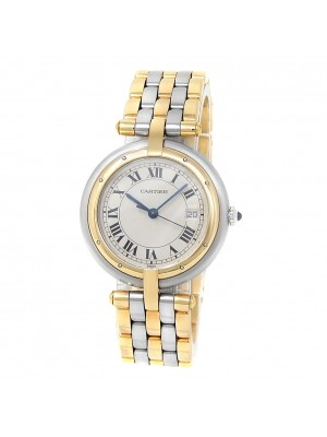 Cartier Panthere 18k Yellow Gold Stainless Steel White Ladies Watch 183964