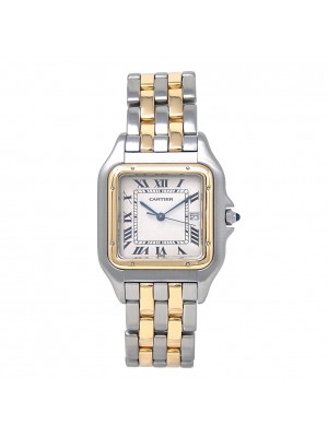 Cartier Panthere 18k Yellow Gold & Stainless Steel Quartz Ladies Watch 187957