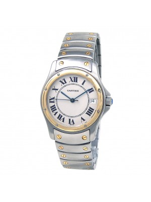 Cartier Cougar 18k Yellow Gold & Stainless Steel Automatic Mid-Size Watch 1910