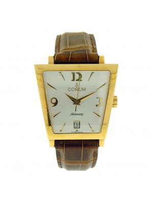 Corum Trapeze 82.404.56 18K Yellow Gold Silver Dial Automatic Mens Watch