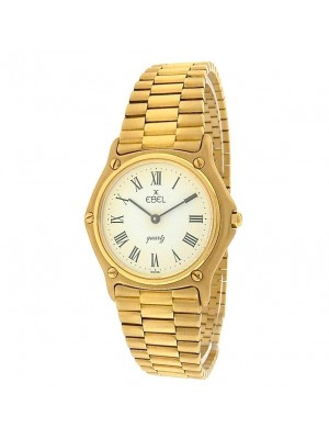 Ebel Classic 56.8DWT 18K Yellow Gold 88.5g Quartz White Ladies Watch