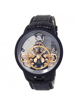 Arnold & Son Time Pyramid Stainless Steel Skeleton Men's Watch 1TPBS.R01A.C124B