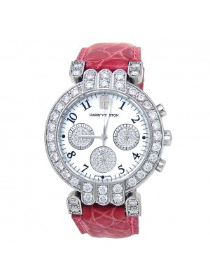 Harry Winston Premiere 18k White Gold Dimond Bezel Quartz Ladies Watch 200UCQ32W