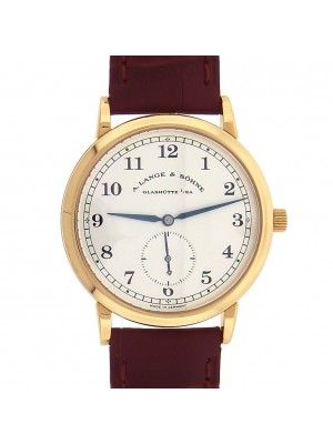A.Lange & Sohne 1815 18k Yellow Gold Brown Leather Manual Silver Men's Watch