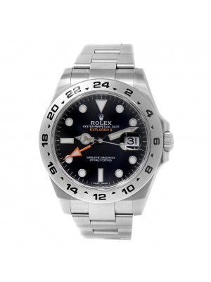 Rolex Explorer II Stainless Steel Oyster Automatic Black Men's Watch 216570