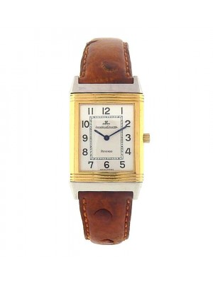 Jaeger LeCoultre Reverso 250.5.08 18k Yellow Gold & Steel Silver Men's Watch