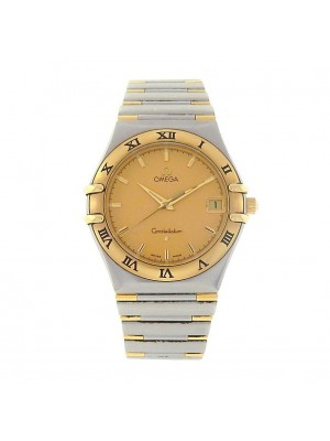 Omega Constellation Stainless Steel 18k Yellow Gold 33mm Quartz Men's Watch