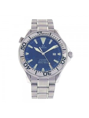 Omega Seamaster Stainless Steel Blue Dial Quartz Men's Watch 2265.80.00