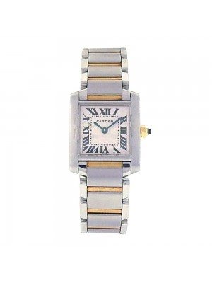 Cartier Tank Francaise 18k Rose Gold & Stainless Steel Quartz Ladies Watch 2300