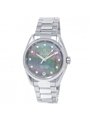 Omega Seamaster Stainless Steel Mother of Pearl Men's Watch 231.10.39.21.57.001