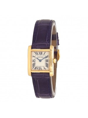 Cartier Tank Francaise 18k Yellow Gold Swiss Quartz Ladies Watch 2385