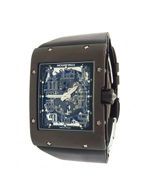 Richard Mille RM016 Extra Flat Titanium Black Rubber Skeleton Men's Watch