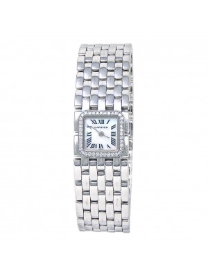 Cartier Panthere Ruban 18k White Gold Quartz Ladies Watch 2422