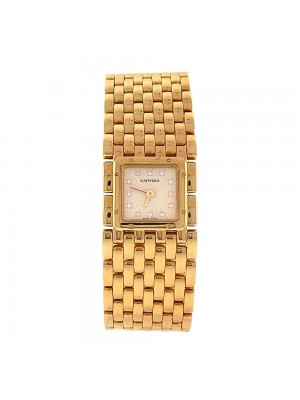 Cartier Panthere 18k Yellow Gold Diamond Markers Quartz Ladies Watch 2449