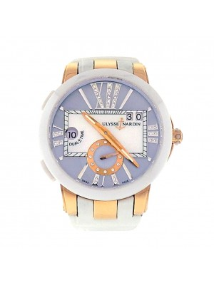 Ulysse Nardin Executive Dual Time Lady 246-10/392 18k Rose Gold Ladies Watch