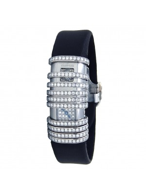 Cartier Declaration Diamond 18k White Gold &Titanium Quartz Ladies Watch 2611