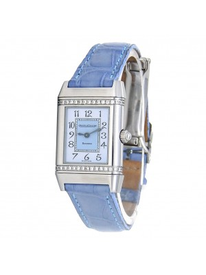 Jaeger LeCoultre Reverso Florale Stainless Steel Quartz Ladies Watch 265.8.08