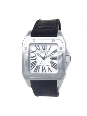 Cartier Santos 100 Stainless Steel Men's Watch Automatic 2656