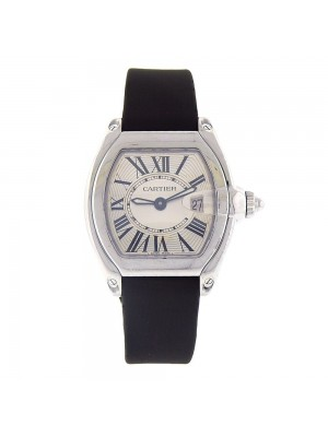 Cartier Roadster Stainless Steel Date Display Swiss Quartz Ladies Watch 2675