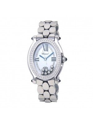 Chopard Happy Sport Stainless Steel Swiss Quartz Ladies Watch 278419-2001