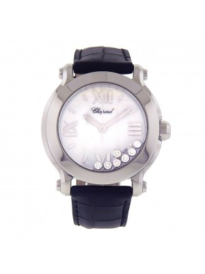 Chopard Happy Sport Round Stainless Steel Swiss Quartz Ladies Watch 278475-3001