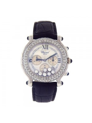 Chopard Happy Sport 18k White Gold Diamond Dial Quartz Ladies Watch 28333523