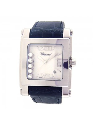 Chopard Happy Sport Square Stainless Steel Diamond Dial Quartz Watch 2884473001